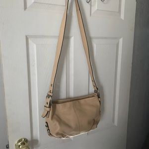 Coach cream leather bag